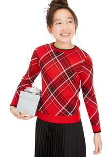 Charter Club Big Girls Plaid Family Sweater, Created For Macy's