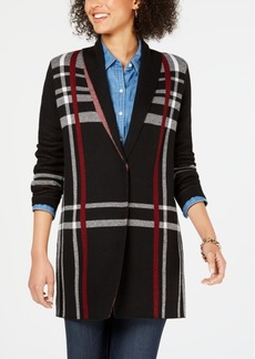 Charter Club Petite Plaid Cardigan Sweater, Created for Macy's