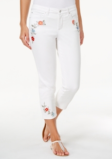 Charter Club Bristol Embroidered Capri Jeans, Only at Macy's
