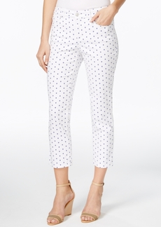 Charter Club Bristol Printed Slim-Leg Capri Jeans, Only at Macy's