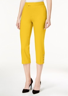 Charter Club Button-Detail Capri Pants, Created for Macy's