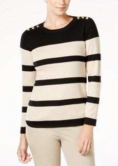 Charter Club Bold Striped Pullover Sweater, Created for Macy's