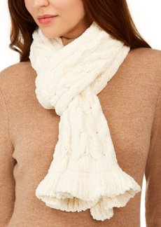 Charter Club Cable Ruffle Chenille Muffler Scarf, Created for Macy's
