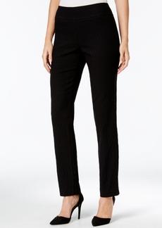 Charter Club Cambridge Diamond Pattern Jacquard Slim-Leg Pants, Only at Macy's