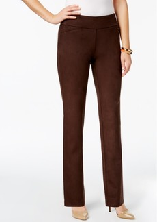 Charter Club Cambridge Faux-Suede Tummy-Control Pants, Created for Macy's