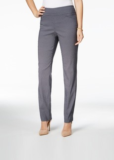 Charter Club Cambridge Geo Print Slim Leg Pant, Only at Macy's