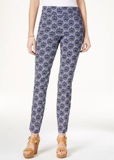 Charter Club Cambridge Medallion-Print Pull-On Pants, Only at Macy's