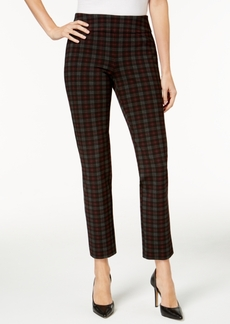 Charter Club Cambridge Plaid Ponte-Knit Pants, Created for Macy's