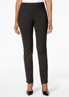 Charter Club Cambridge Print Ponte Slim-Leg Pants, Created for Macy's
