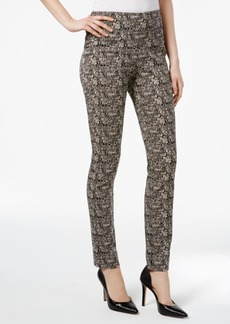 Charter Club Cambridge Print Slim-Leg Pants, Created for Macy's