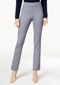 Charter Club Cambridge Patterned Slim-Leg Pants, Created for Macy's