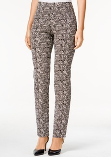 Charter Club Cambridge Printed Straight-Leg Pants, Only at Macy's