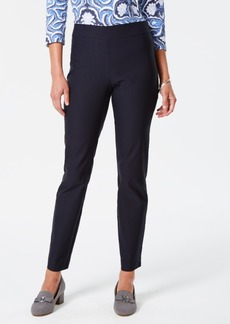 Charter Club Cambridge Skinny Pull-On Tummy-Control Pants, Short Length, Created for Macy's