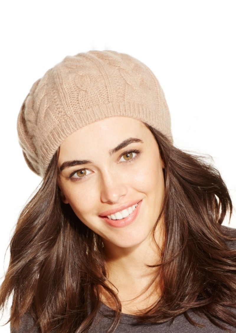 Charter Club Charter Club Cashmere Cable Beret a948fccd1bb