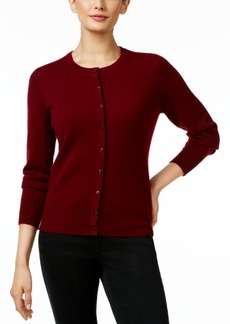 Charter Club Cashmere Crew-Neck Cardigan, Only at Macy's