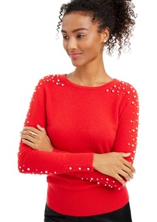 Charter Club Cashmere Embellished Sweater, Created for Macy's