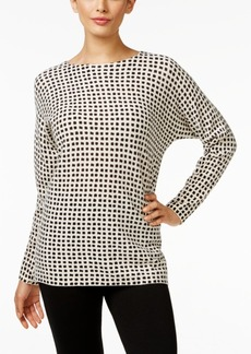 Charter Club Cashmere Grid-Print Sweater, Only at Macy's