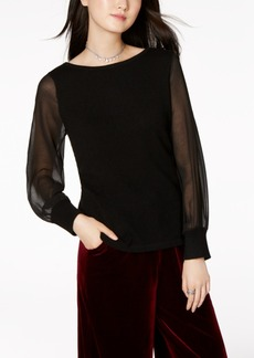 Charter Club Cashmere Illusion-Sleeve Sweater, Created for Macy's