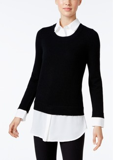 Charter Club Cashmere Layered-Look Sweater, Only at Macy's