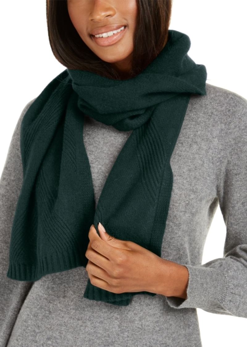 Charter Club Cashmere Rib Muffler Scarf, Created For Macy's