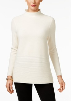 Charter Club Cashmere Ribbed Mock-Neck Sweater, Only at Macy's