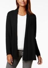Charter Club Petite Cashmere Ribbed Open-Front Cardigan, Created for Macy's
