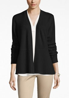 Charter Club Cashmere Ribbed Peplum Cardigan, Only at Macy's