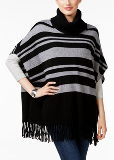 Charter Club Cashmere Striped Fringe Poncho, Only at Macy's