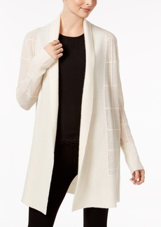 Charter Club Cashmere Textured Open-Front Cardigan, Created for Macy's