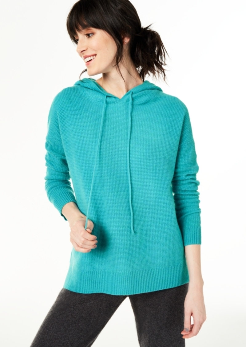 Charter Club Cashmere Thermal Hoodie Sweater, Regular & Petite Sizes, Created For Macy's