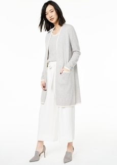Charter Club Cashmere Tipped Completer Cardigan, Created For Macy's