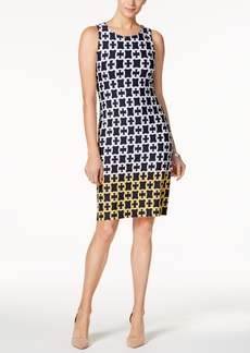 Charter Club Chain-Print Shift Dress, Only at Macy's