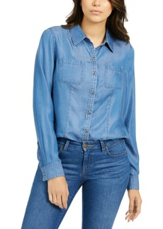 Charter Club Petite Chambray Shirt, Created For Macy's