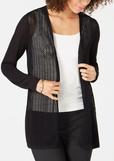 Charter Club Chevron Pointelle Cardigan, Created for Macy's