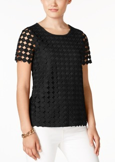 Charter Club Circle-Lace Top, Created for Macy's