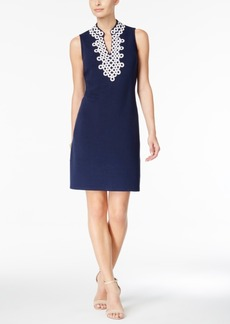Charter Club Circle-Trim Sheath Dress, Only at Macy's
