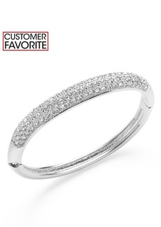 Charter Club Clear Glass Pave Bangle