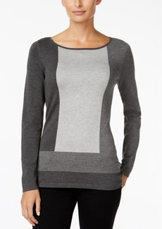 Charter Club Colorblocked Boat-Neck Sweater, Only at Macy's