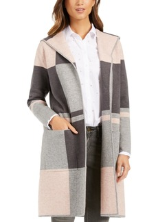 Charter Club Colorblocked Hooded Coatigan, Created For Macy's
