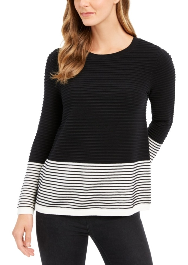 Charter Club Colorblocked Ottoman Sweater, Created for Macy's
