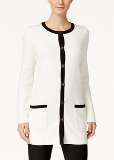 Charter Club Contrast-Trim Cardigan, Only at Macy's