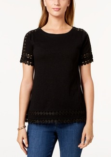 Charter Club Cotton Circle-Trim T-Shirt, Created for Macy's