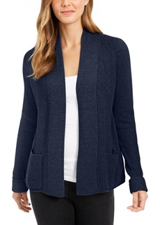 Charter Club Cotton Open-Front Cardigan, Created for Macy's