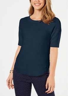 Charter Club Cotton Short-Sleeve Sweater, Created for Macy's