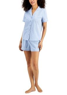 Charter Club Cotton Swiss Dot Shorts Pajama Set, Created for Macy's