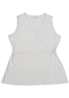 Charter Club Cotton V-Neck Wrap Top, Created for Macy's
