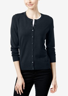 Charter Club Crew-Neck Cardigan, Only at Macy's