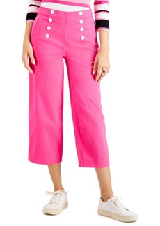 Charter Club Cropped Wide-Leg Twill Pant, Created for Macy's