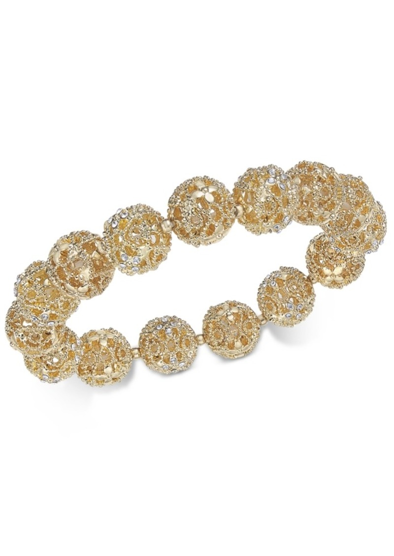 Charter Club Crystal Filigree Stretch Bracelet, Created for Macy's