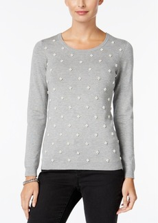 Charter Club Decorative-Pearl Sweater, Only at Macy's